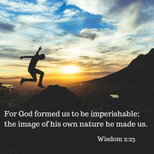 God formed us to be imperishable!